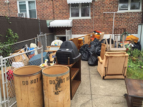 Junk removal from back yard(before) - New York City