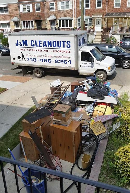 Junk removal from driveway(before) - New York City